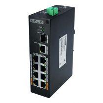 BOLID SW-108 Коммутатор сетевой неуправляемый 1 порт 1000 Base-X, 1 порт 10/1000 Мб/с Ethernet, 8 портов 10/100 Мб/с (PoE)